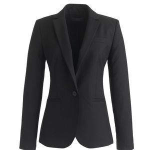 J. Crew Super 120's Classic Fitted Blazer Size 0P